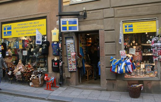 souvenier shop in gamla stan