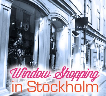 window shopping in stockholm gamla stan in sweden, shopping in Stockholm, Gamla Stan store windows