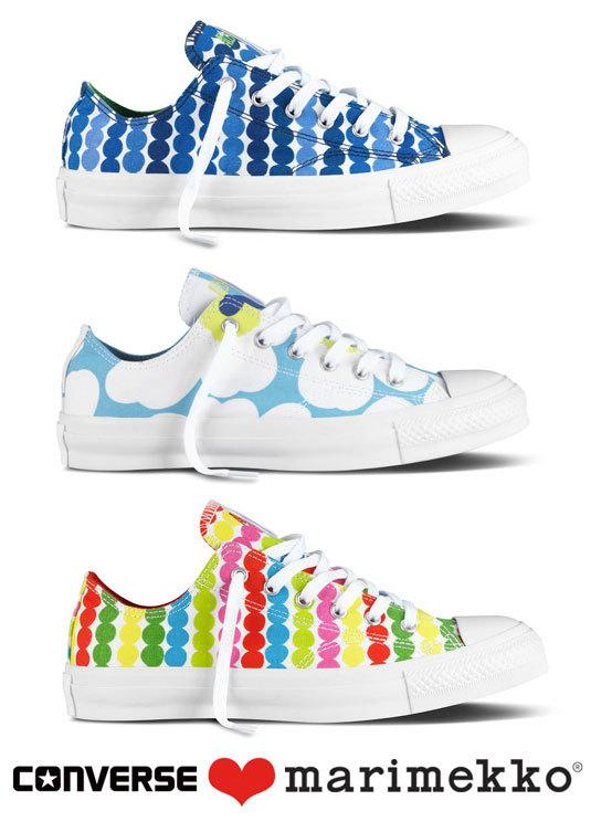 In addition, Chuck Taylor All Star will wear two more prints: Unikko, one of the most iconic Marimekko patterns, designed by Maija Isola in 1964, and Räsymatto, inspired by colourful rag rugs and designed by Maija Louekari in 2009.