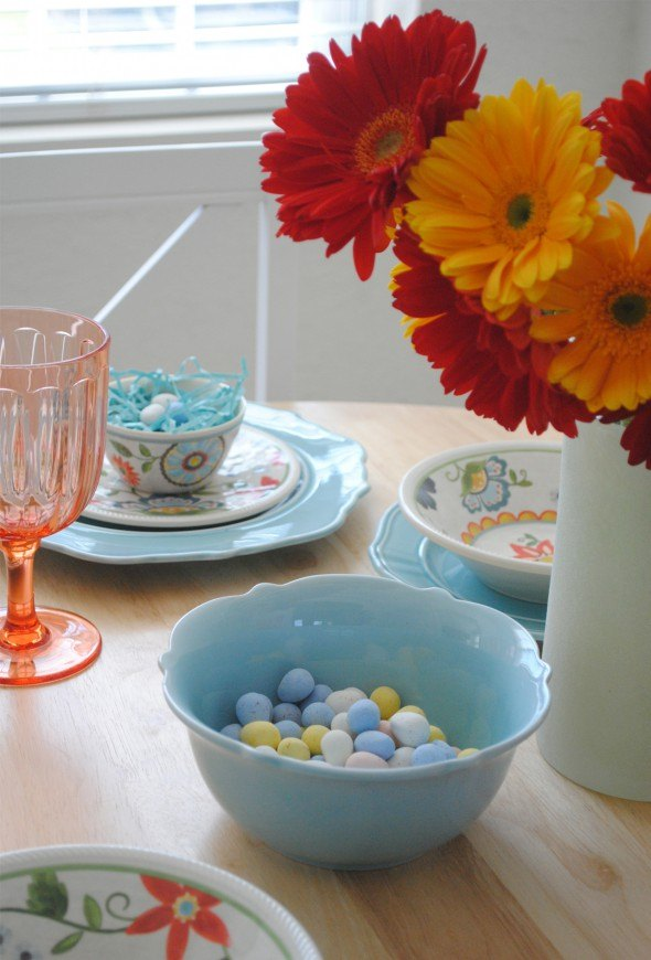 tiffany blue easter table setting