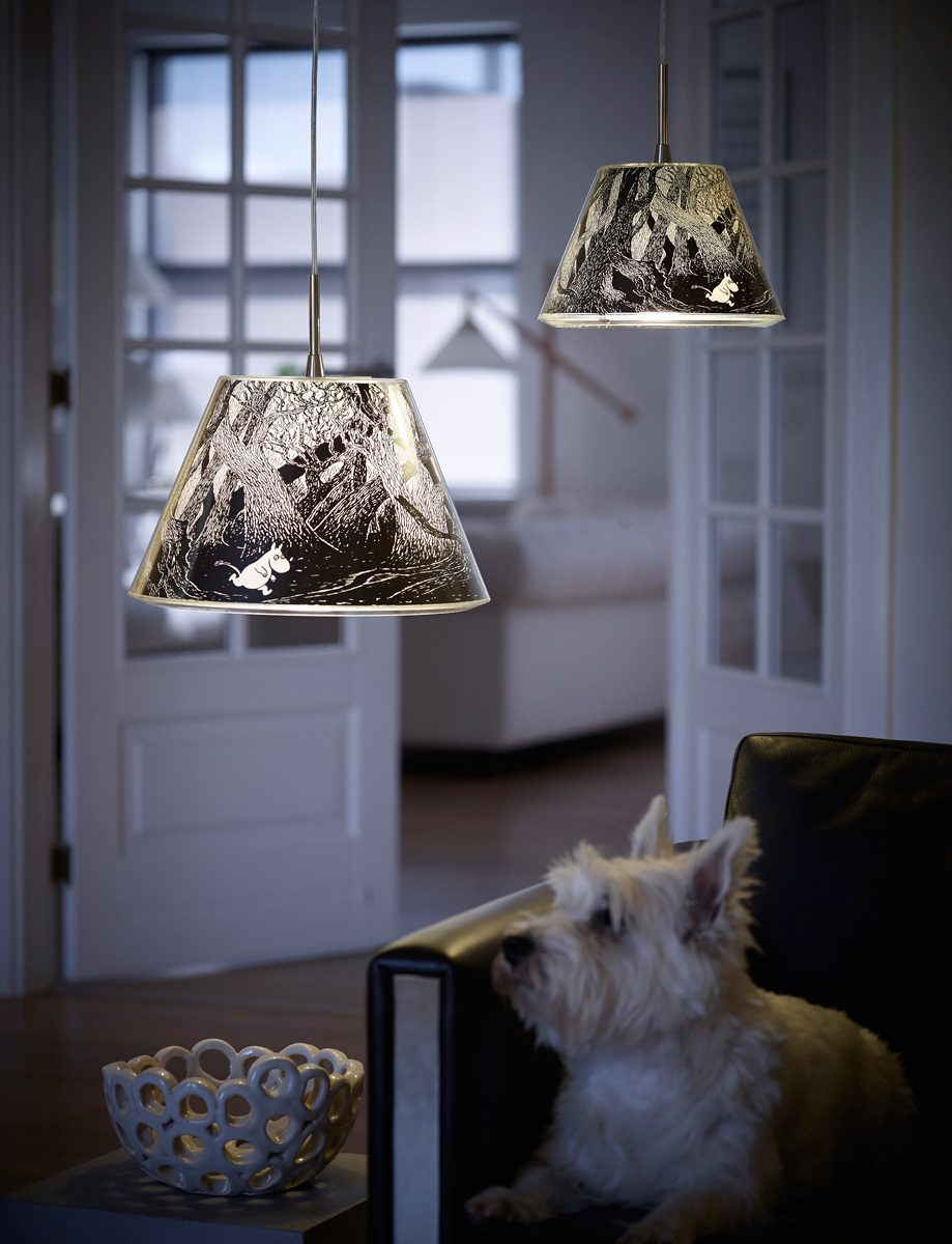 Moomin Dark Forest Living Pendants by Le Klint