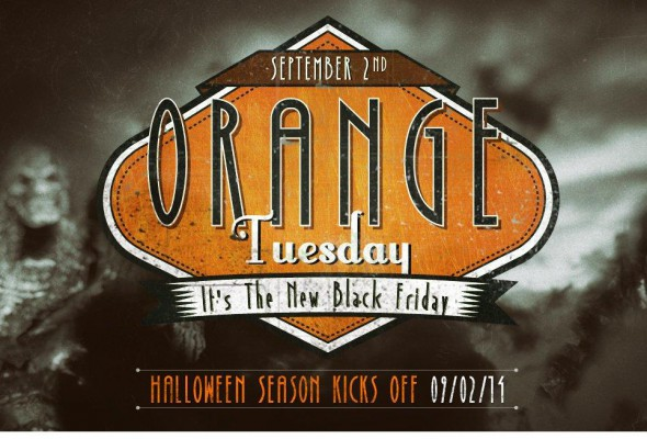 orange tuesday - it's like Black Friday for Halloween costumes!