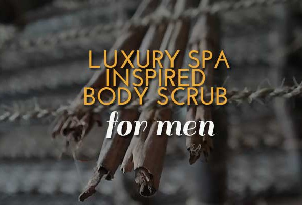 luxury spa inspired body scrub for men