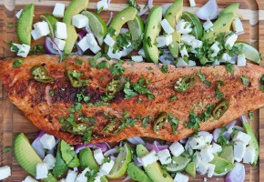 Salmon with Avocados