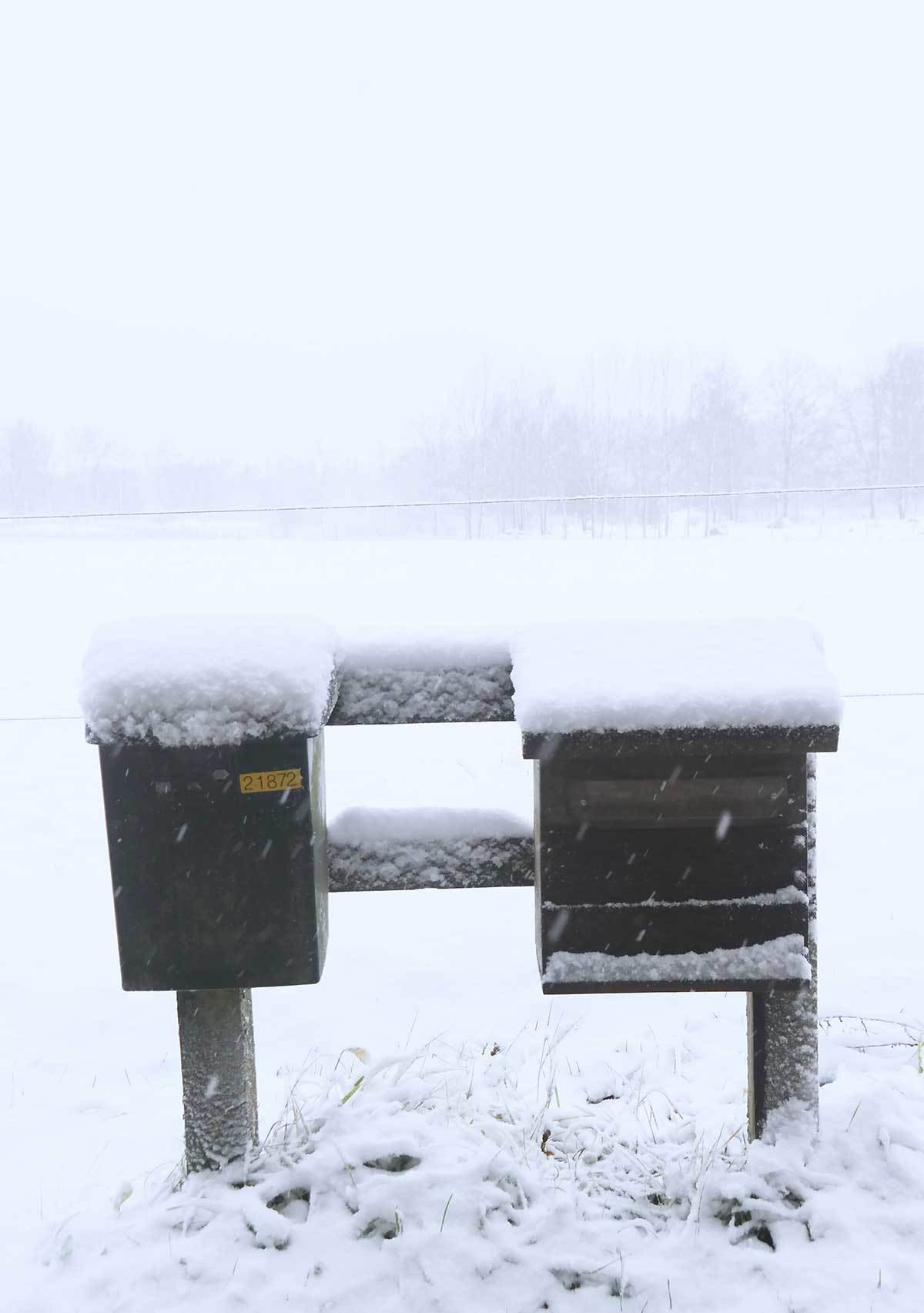 Mailbox in a snow.. Its time to get a new mailbox and move again!