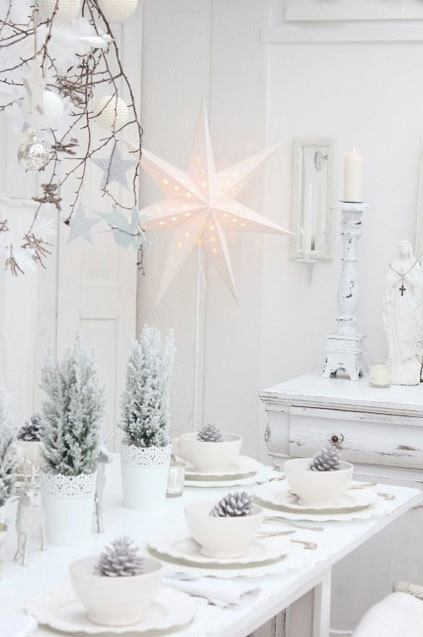 More white christmas inspiration skimbaco lifestyle for White xmas decorations