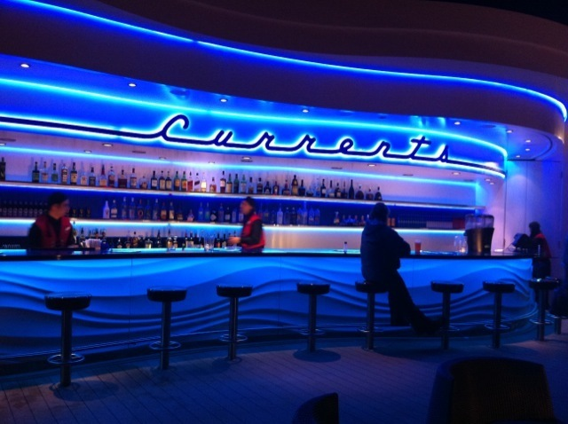 Disney Dream inaugural voyage, Disney cruise for adults, bar on the deck