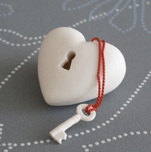 porcelein heart art