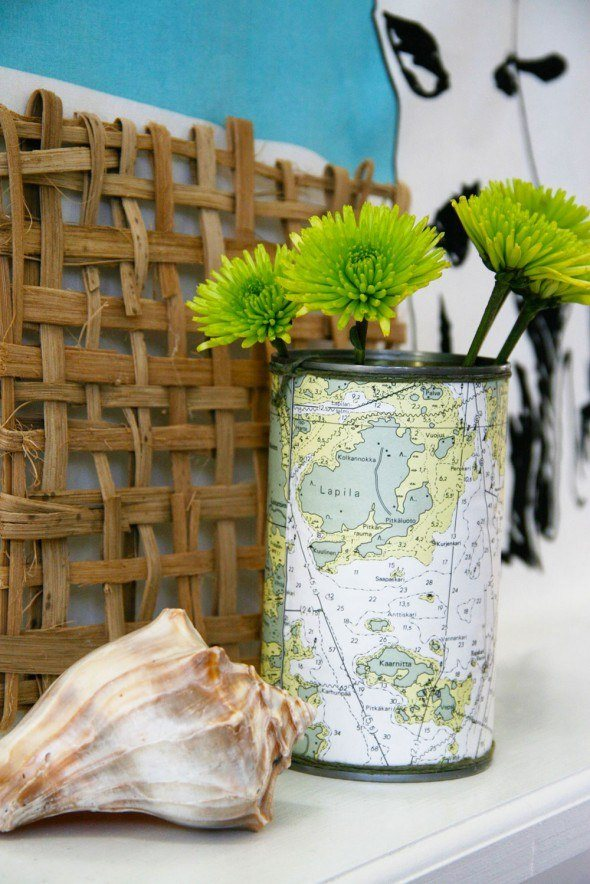 Soup can craft with maps