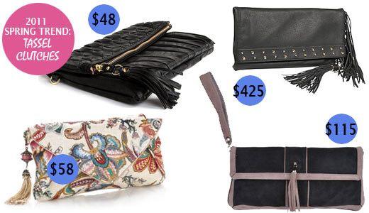 Tassel clutch, fashion clutch, trendy clutch, clutch with leather tassels