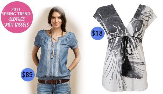 Tassels clothing, tassel fashion, tunics with tassels, shirt with tassel