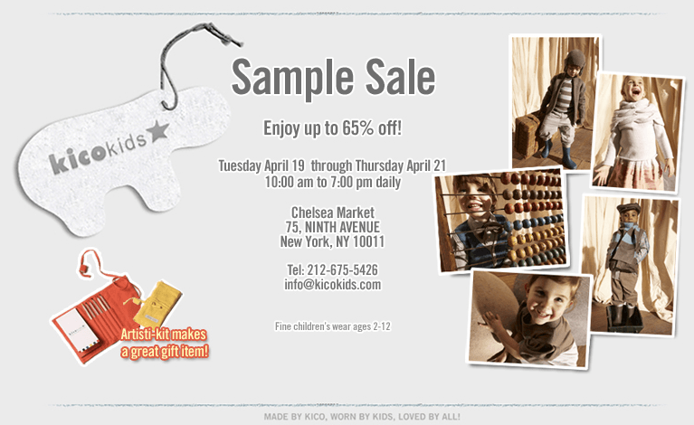 kids fashion sample sale