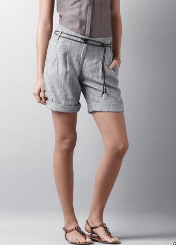 LOFT shorts Chambray Linen Shorts