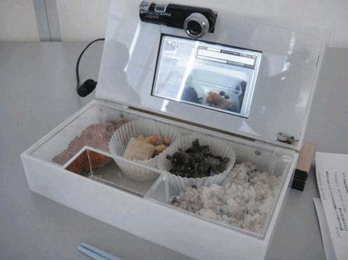 bento box with video camera