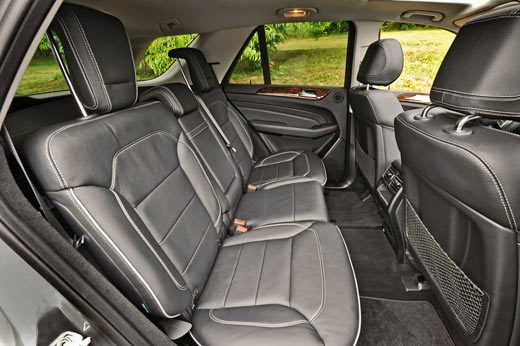 2012 ML350 4MATIC Mercedez-Benz photo of the backseat