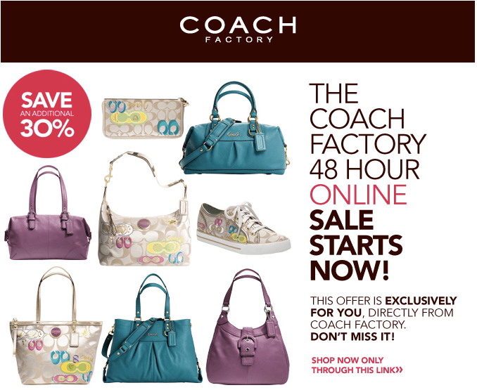 Coach sale 70% off