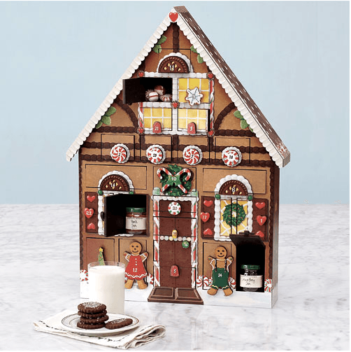 Wooden House Advent Calendar wooden gingerbread advent house