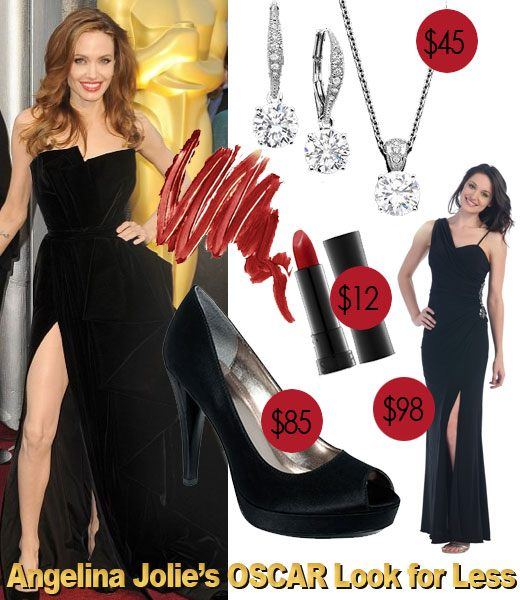 Angelina Jolie, Oscars, Academy Awards, Angie's leg,Angelina Jolie's Oscars look for less