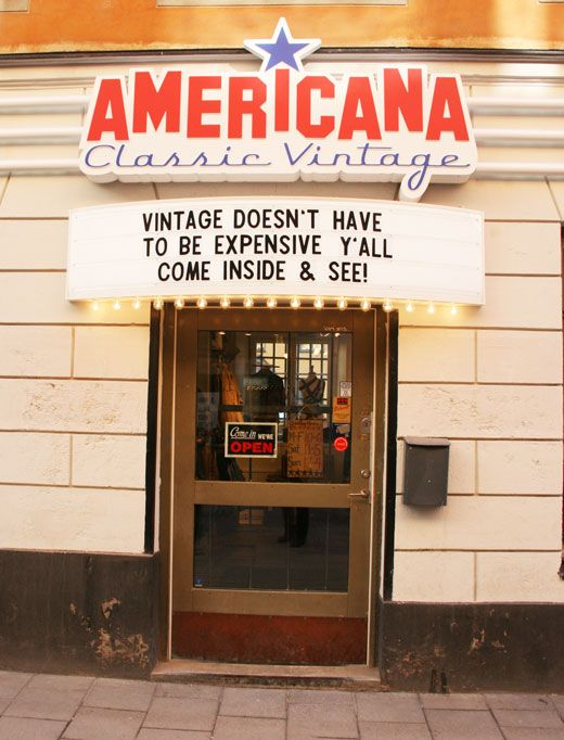 american store in Stockholm, shopping vintage in Stockholm
