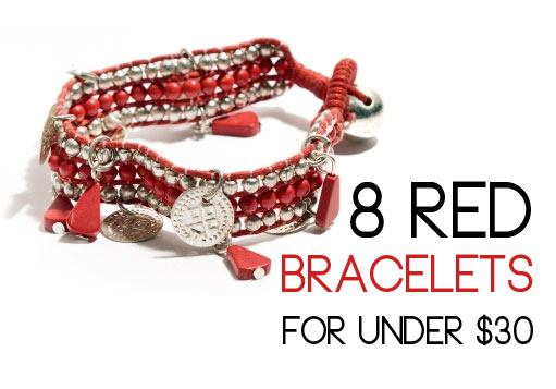 red coin bracelest, cheap bracelets, red jewelry