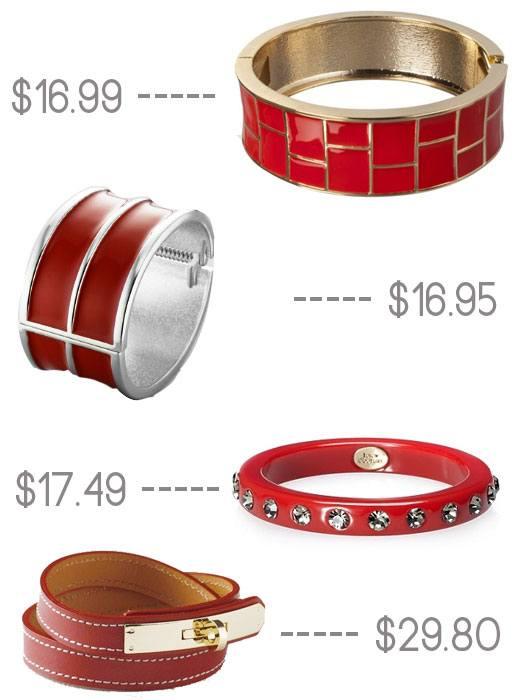 red color pop bracelets