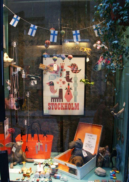 stockholm store window