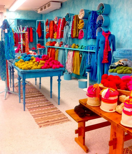 happy color yarn shop in Stockholm