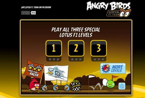 Angry Birds Lotus F1 Game