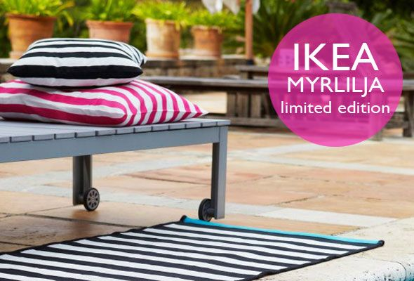 IKEA MYRLILJA now available in the stores as seen on http://www.skimbacolifestyle.com/2012/05/ikea-myrlilja.html, IKEA, outdoor living, inexpensive summer textiles