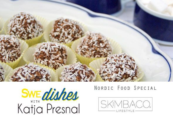 Chocolate Coconut Balls Recipe as seen on Skimbaco Lifestyle Swe-dishes