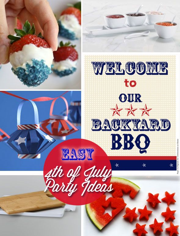 inexpensive 4th of July party decorating