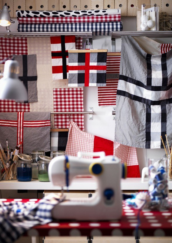 ikea 2013 catalog, ikea hackers, textiles, diy bunting, flags