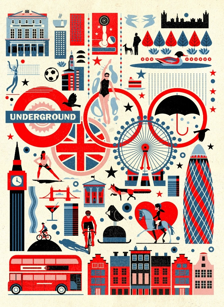 Brilliant London Illustrations For Your Home Skimbaco