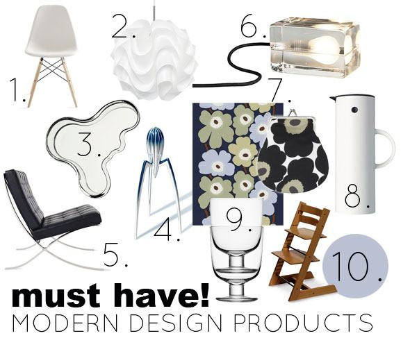 10 Must Have Modern Design Products for Home Skimbaco