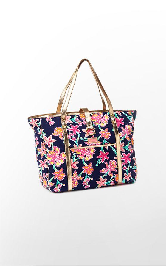 Lilly Pulitzer Bright Navy Pretty Social Resort Bag