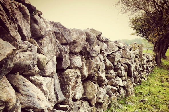 Rock fence on a field in Ireland I @SatuVW