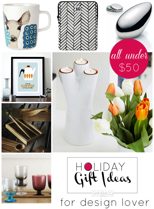 Holiday Gift Guide Gifts For Design Lovers Under 50