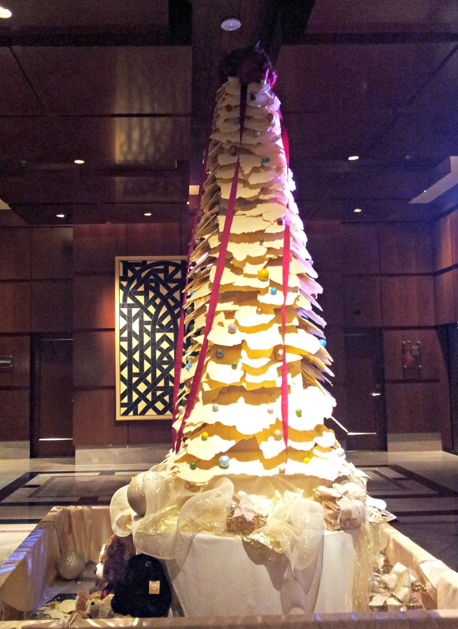 600 pounds of White Chocolate, Ritz-Carlton Tree