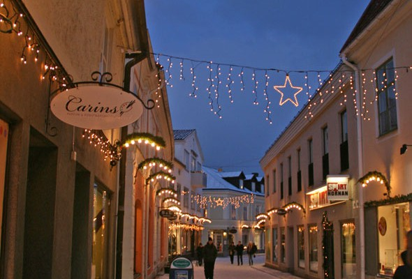 Vadstena during Christmas time