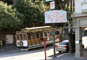 San Francisco Cable Car in front of The Buena Vista Cafe