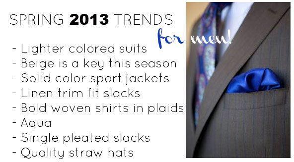 spring fashion trends for men 2013