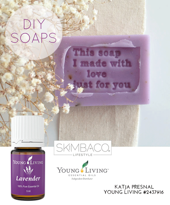 DIY lavender soaps with essential oils