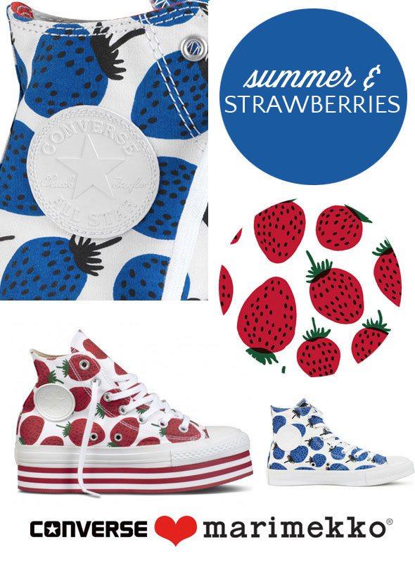 Marimekko strawberry print Converse