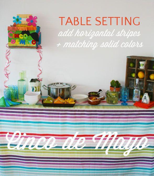 cinco de mayo table setting ideas