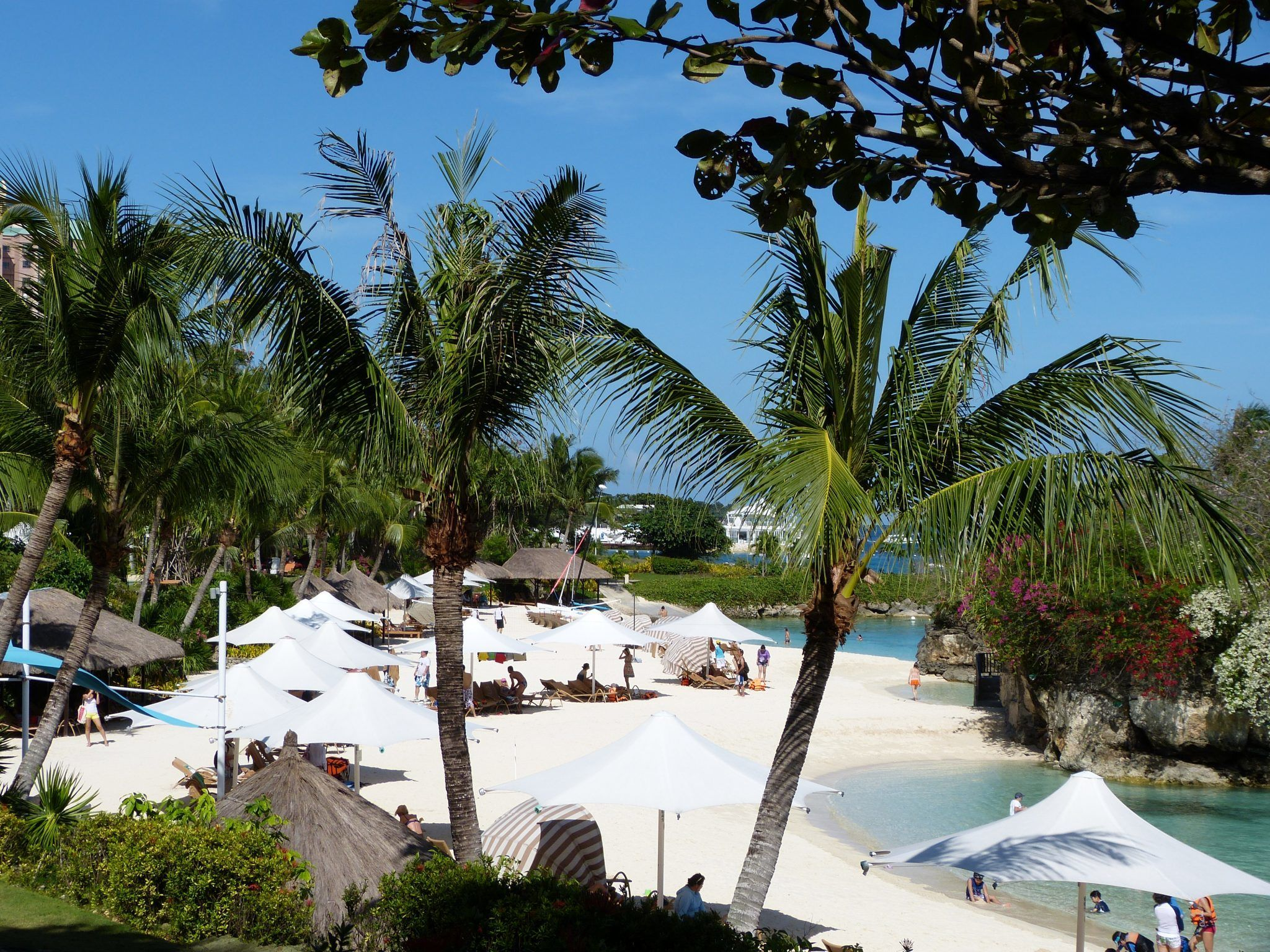 Beach of ShangriLa Mactan in Cebu. Philiippines