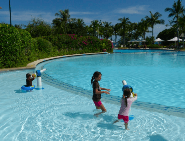 Shangri-La Cebu pools