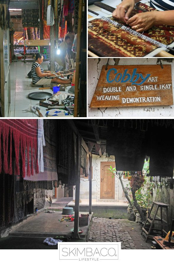 Ikat fabric demonstrations in Bali
