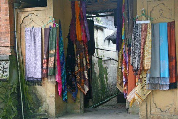 ikat fabric shop in Bali