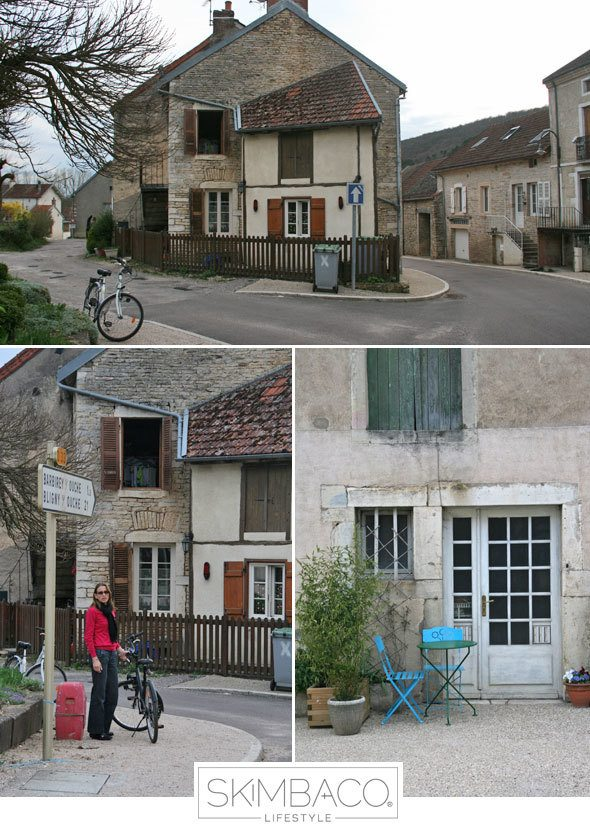 Biking in the small towns of Burgundy