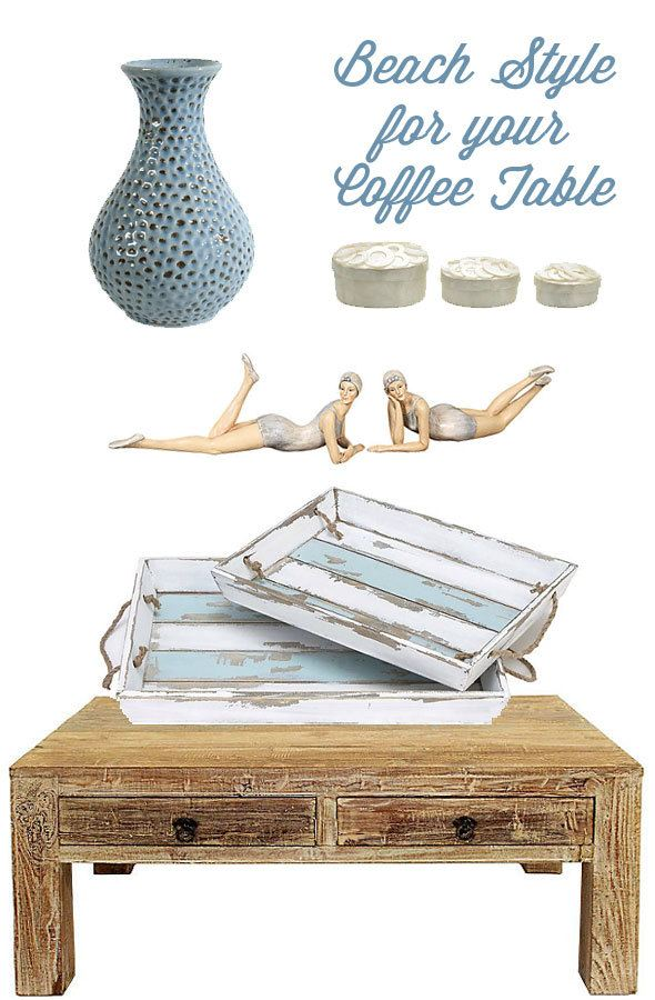 Coastal decorating ideas for your coffee table. Products from One Kings Lane http://one-kings-lane.linqiad.com/click/YJdQaGWSdnJk